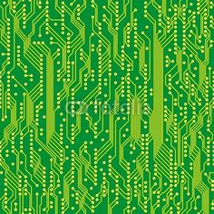 seamless pattern of circuit board