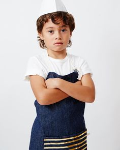 Don't mess with a Chef in gold and denim! www.odettewilliams.com
