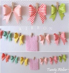so cute - bow garland! (DIY at http://sjrenoir.com/)