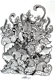 Цветы #ZentangleDesign #art
