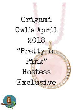 Origami Owl pink pri
