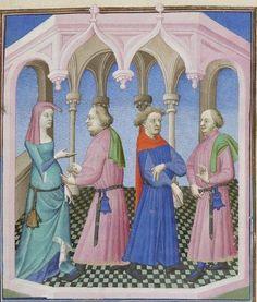 Publius Terencius Afer, Comoediae [comédies de Térence] ca. 1411;  Bibliothèque de l'Arsenal, Ms-664 réserve, 158r