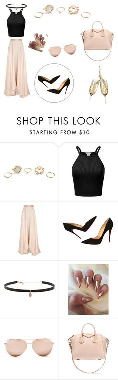 """#dinnerwithfriends2 👠👓🍷"" by haileyy-865 ❤ liked on Polyvore featuring GUESS, Lanvin, Christian Louboutin, Carbon & Hyde, Linda Farrow and Givenchy"