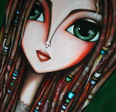 """Dreadlocks"" 1.50 x 1m ☀️🌙 Comenzando la semana con lluvia, les dejo esta nueva obra... Buen comienzo!!!! 😍 #romilerdart  #SoyRomiLerda #dreadlocks #soyRomiLerda #romiledart #Argentina #italia #españa #colombia #mexico #miami #brasil #chile #uruguay #arte #art #galleriad'arte #galleryart #love #occhi #eyes #ojos #woman #donna"