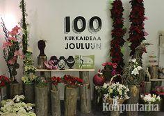 """""""100 kukkaideaa jouluun"""" -näyttely marraskuun 2015 lopulla Helsingissä."""