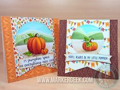 Pumpkin Spice cards by Quixotic - Cards and Paper Crafts at Splitcoaststampers