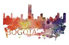 Bogota Art, Bogota Skyline, Bogota map, Bogota skyline, Bogota map print  A beautiful Watercolor Art print of Bogota, Colombia. Perfect for an Leg Band Tattoos, Colombian Art, Power Trip, Cityscape Art, Skyline, Travel Posters, Watercolor Art, Tattoo Ideas, Just For You