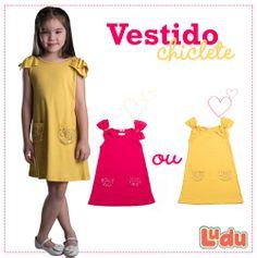 Loja Ludu, coleção 2014, vestido colorido Chiclete. Moda para meninas. #moda #menina #fashion #kids #girls #vestido #dress Compre pelo site: www.ludu.com.br