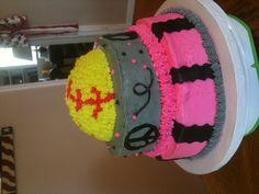 Back of the softball cake