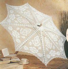 Buenos días:       Les dejo estas hermosas sombrillas para aquellas con mas experiencia en el arte del tejido. Siguen si...