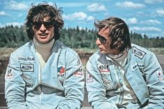 Francois Cevert and Jackie Stewart