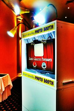 JIMBO'S ANazig photo booth. Melbourne area $350 for 2 hours, the Gus a photographer and will take photos (of the reception?) for another $100
