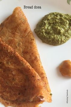 Instant Bread Dosa | Instant Dosa Varieties   That's right - No fermentation no waiting. Instant Dosa for those 4pm hunger pangs or a quick breakfast / supper idea. This was a recipe I wanted to make the moment I saw it. Predictably both my kids love most dosas and this was welcomed for it was instant and super yummy ! They didn't even realise it had bread in it and even after I told them they didn't (couldn't) believe it. The only grouse was why did I make only 6 for 4 members in the family…