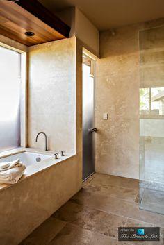 Gorgeous modern bathroom design.
