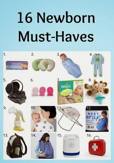 Newborn Necessity Items | Baby registry