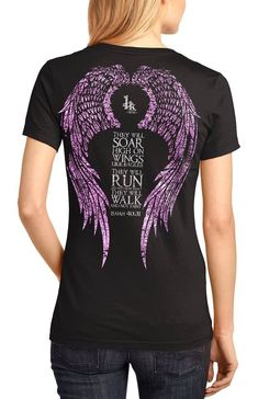 "This cool graphic Christian t-shirt uses original, hand-illustrated artwork. Inspired and designed around Isaiah 40:31, ""They will soar on wings like eagles; they will run and not grow weary, they will walk and not faint."" Printed on a 100% cotton, perfect weight, v-neck, t-shirt. This is an original 1King worship wear Christian t-shirt."