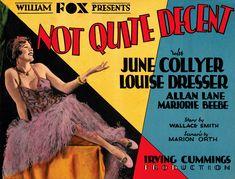 Not Quite Decent (1929), a lost film. Bizarre Los Angeles