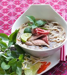 An authentic Vietnamese Pho Recipe from award-winning cookbook, Into The Vietnamese Kitchen by Andrea Nguyen. Step by step photos with secret tips! ~ https://steamykitchen.com