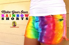 DIY #Rainbow Shorts !!