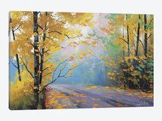 "Misty Autumn Day by Graham Gercken Canvas Print 26"" L x 18"" H x 0.75"" D"