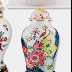 Mottahedeh's Tobacco Leaf ginger jar lamp