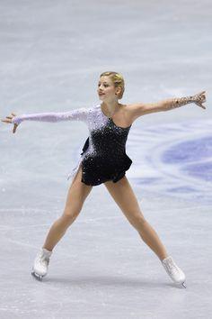 Gracie Gold of the United States short program 2013/2014 NHK Trophy -Black Figure Skating / Ice Skating dress inspiration for Sk8 Gr8 Designs