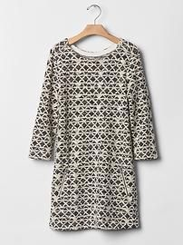 Shine geometric shift dress