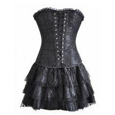 Gothic Lolita Steampunk Dress (3-pc Set)