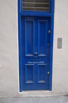Blue door London UK