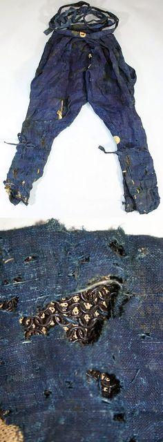 Yoroi hakama (armored pants), these are kusari hakama, they have kusari (chain armor) sewn between layers of cloth.