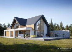 House project: LK & 1479 - ExclusiveHaus: Living at the highest level- Hausprojekt: – ExklusivHAUS: Leben auf höchstem Niveau House project: LK & 1479 – ExclusiveHAUS: Living at the highest level - Modern Barn House, Modern House Design, Modern House Facades, Modern Farmhouse Exterior, Facade House, Home Design Plans, House Goals, Home Fashion, Home Projects