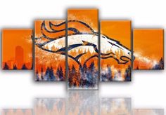 5-Pcs-Denver-Broncos-Football-Painting-Printed-Canvas-Wall-Art-Sport-Home-Decor