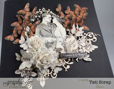 See all those butterflies!    Tati, Mixed media Album, Mon Amour Collection, Product by Graphic 45, Photo 4