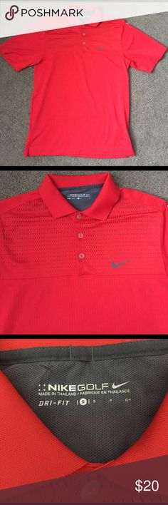 Nike Red Golf Polo Nike red golf polo. Great condition! Size small. Nike Shirts Polos