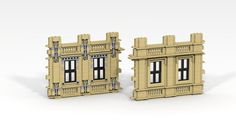 LEGO sash windows with classical architecture.