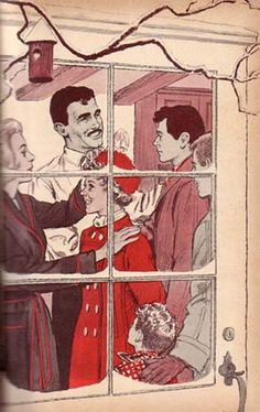 (3) Illustration by Paul Frame is from the 1965 Whitman Deluxe edition of Trixie Belden and the Mystery in Arizona.