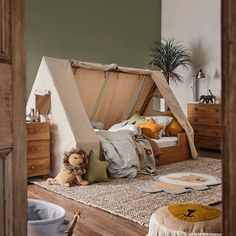 Our Kid's bedroom range has arrived! Your little ones will fall in love with every piece, including the safari-themed Hideout bed with… The Effective Pictures We Offer You About Montessori books A qua Safari Bedroom, Baby Bedroom, Baby Boy Rooms, Baby Room Decor, Kids Bedroom, Room Kids, Tent Bedroom, Boys Jungle Bedroom, Safari Kids Rooms