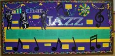 Music Classroom Bulletin Boards: All That Jazz ~ a great board to display during Mardi Gras