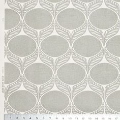 June Leaf Pale Grey fabric, may match the grey and orange room. Via Winter Water Factory.