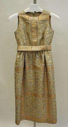 1965 Mainbocher Evening dress Metropolitan Museum of Art, NY**