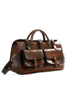 I really like this kind of vintage leather bag <3 - @VAULT