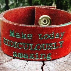 Make today ridiculously amazing! #harmoniecuffs #cuffs  #leathercuffs #inspiration #beamazing #theeverydaygirl #c2cgiveaway #coasttocoastchallenge