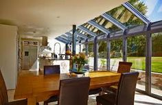 kitchen diner extension glass roof - Google Search