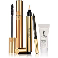 Yves Saint Laurent Four-Piece Radiant Eye Mascara and Corrector... ($74) ❤ liked on Polyvore featuring beauty products, makeup, eye makeup, beauty, cosmetics, no color, bright makeup, mini makeup, yves saint laurent cosmetics and dark eye makeup