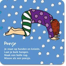 yoga kaart kinderen poes - Google zoeken Yoga 1, Yoga Meditation, Childrens Yoga, Mindfulness For Kids, Massage, Yoga School, Relaxing Yoga, Coaching, Yoga For Kids