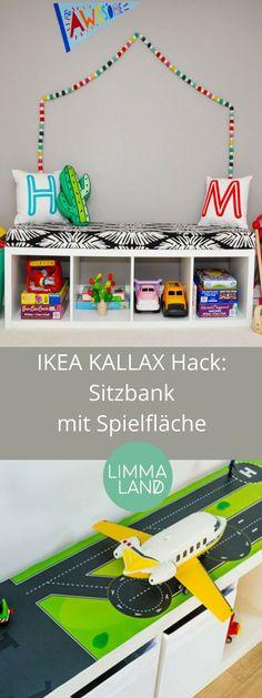 IKEA KALLAX Hack: Sitzbank als Multitalent und 3x praktisch im Kinderzimmer. Mehr dazu auf unserem Blog: www.limmaland.com