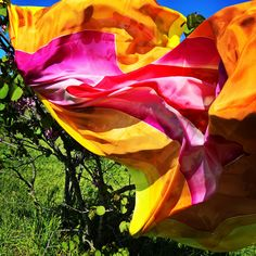 Handmade silks scarf www.alittlemarket.com