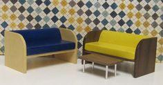 Modern dollhouse sofas in 1:16