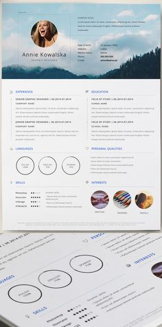 1222 best Infographic Visual Resumes images on Pinterest     Free Minimalistic Resume CV Template  AI  I really enjoy the structure of  this  CVs samples are nice for graduate students