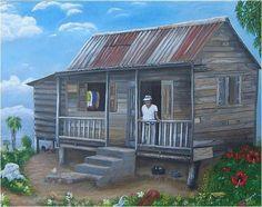 Casita/house that remind me of my abuela Elena's house/San German, Puerto Rico/1957